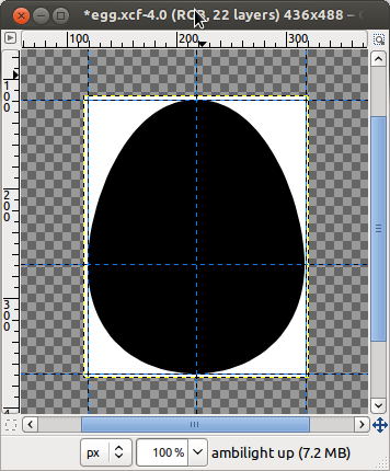 The egg is taking shape...